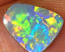 2ct 12x10mm Solid Lightning Ridge Dark Opal [LO-1442]