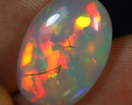 5.90cts Superb Strong Rainbow Patchwork Natural Ethiopian Welo Opal