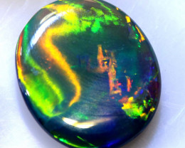 N5 - CTS QUALITY CHINESE WRITING DARK OPAL POLISHED STONE INV-1153