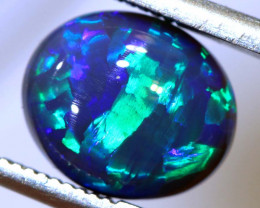 N2 -2.76 CTS QUALITY BLACK OPAL POLISHED STONE INV-1159