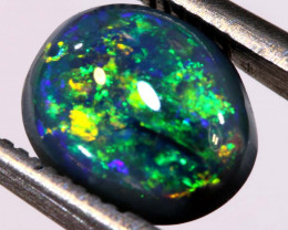 N2 -1.06 CTS QUALITY BLACK OPAL POLISHED STONE INV-1166