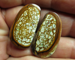 "52cts,""BOULDER MATRIX OPAL~WOW!!PAIR"""