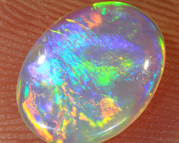 0.65ct 9x7mm Solid Lightning Ridge Crystal Opal [LO-1469]