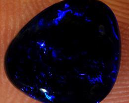 1.75ct 9.5x8.5mm Solid Lightning Ridge Black Opal [LO-1471]
