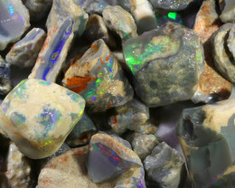 1124.40 CTS GAMBLE  COLOURFUL ROUGH PARCEL FROM LIGHTNING RIDGE[BRP104]