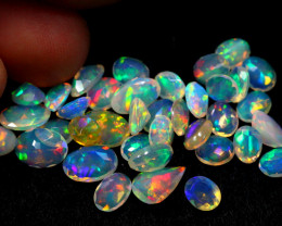 9.74cts Ethiopian Welo Opal FACETED CUTTING Parcel Lot Sale 03