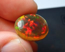 6.5ct Blazing  Not Enhanced Dark Multicoloured  Welo Opal