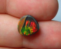 4ct Blazing  Not Enhanced Dark Multicoloured  Welo Opal