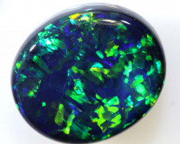 N1 - 4.41CTS QUALITY BLACK OPAL POLISHED STONE INV-