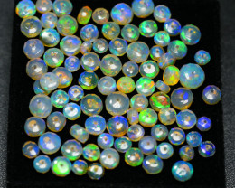 34.55 CRT BEAUTY OPAL BEADS FACETED FULL COLOR WELO OPAL-