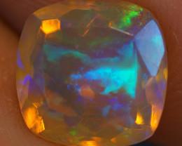 2.06 ct 9x9 Dark Body !! Rare  Welo Faceted Ethiopian Opal - BAF218
