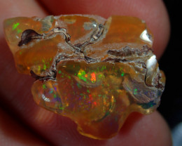 12ct Mexican  Bright Carved Multicoloured Fire Opal Specimen