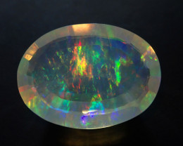 4.5ct Mexican  Bright Faceted Multicoloured Fire Opal