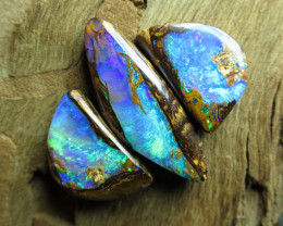 "19cts,""3 X SET GEM PIPE OPALS~TOP QUALITY!"""
