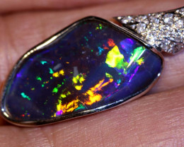 28.45CTS - BEAUTIFUL BOULDER OPAL GOLD PENDANT INV-1189
