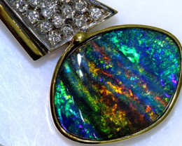 50.85CTS - BEAUTIFUL BOULDER OPAL GOLD PENDANT INV-1193