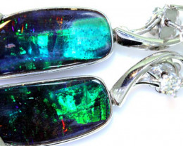 85CTS - BEAUTIFUL BOULDER OPAL GOLD EARRINGS INV-1195