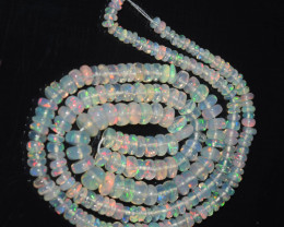 33.95 Ct Natural Ethiopian Welo Opal Beads Play Of Color