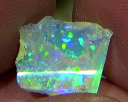 5.90 cts Ethiopian Welo PINFIRE CIRRUS crystal opal N9 4/5