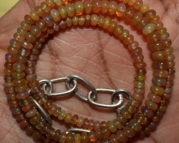 30 Crt Natural Ethiopian Welo Fire Opal Beads Necklace 2