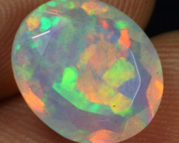 Video - 3.00cts 3D Rainbow Flagstone Pattern Natural Ethiopian Welo Faceted