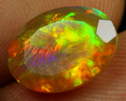 3.00cts Extremely Chaff Pattern  Natural Ethiopian Welo Faceted Opal