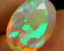 Video - 4.60cts 3D Flagstone Pattern Natural Ethiopian Welo Faceted Opal