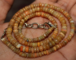 34 Crt Natural Ethiopian Welo Fire Opal Beads Necklace 28