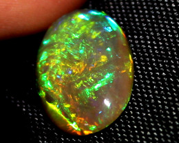 4.55 Crt Natural Ethiopian Welo Fire Smoked Opal Cabochon 1460