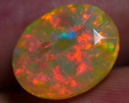 3.40 CRT GORGEOUS FACETED FULL RED FIRE COLOR WELO OPAL*K69