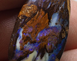 14.05CTS KORIOT BOULDER OPAL WOOD FOSSIL RE491
