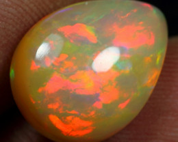 SUPER DEAL 4.40cts Brush Flash Fire Natural Ethiopian Welo Opal