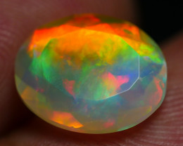 1.80 CRT STUNNING FACETED CLOUD FIRE PATTERN PLAY COLOR WELO OPAL*K76
