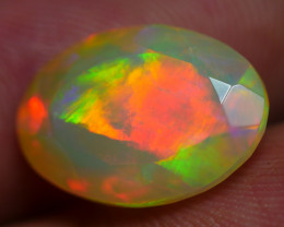 3.75 CRT BEAUTIFUL FACETED BROADFLASH RED FIRE COLOR WELO OPAL*K77
