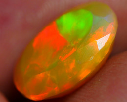 3.00 CRT BEAUTY DARK BASE FACETED BROADFLASH FIRE WELO OPAL*K89
