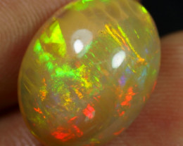 6.35cts Brush Neon Fire Natural Ethiopian Welo Opal