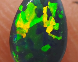 0.30CT BLACK OPAL  LIGHTNING RIDGE RE530