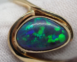15.80CT 9CT GOLD  RING LIGHTNING RIDGE SOLID OPAL RE532