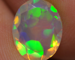 1.05 CT 10X8 MM AAA Quality Faceted Cut Ethiopian Opal-BAF464