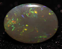 7.7ct Mintabie Semi-Black Crystal Solid Opal - 7.7 ct - Polished Australian
