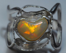 8SZ Blazing Welo Solid Opal / Sterling Silver Quality