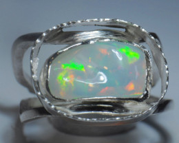 9.25SZ Blazing Welo Solid Opal / Sterling Silver Quality