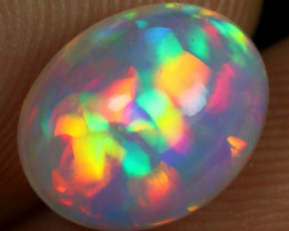 2.20cts Top 5/5 Parrot Feather Pattern Natural Ethiopian Welo Opal