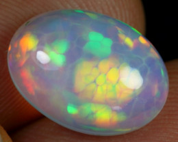 4.35cts Rainbow Cell Honeycomb Pattern Natural Ethiopian Welo Opal