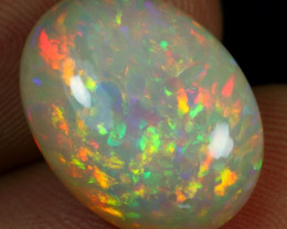 7.75cts Superb Strong Brush Flash Fire Natural Ethiopian Welo Opal