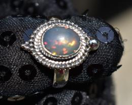 ETHIOPIAN OPAL RING 925 STERLING SILVER JE1697