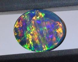 0.45 ct Doublet Opal Gem Multi Color