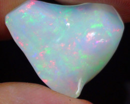 11.55 ct Ethiopian Multi Color Carved Freeform Welo Opal