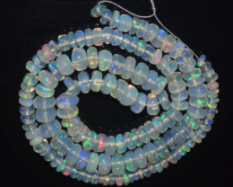 33.40 Ct Natural Ethiopian Welo Opal Beads Play Of Color