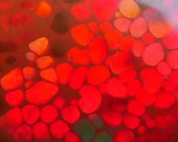 5.00 CRT AMAZING DARK BASE RED NEON FISH SCALE PATTERN WELO OPAL*K98